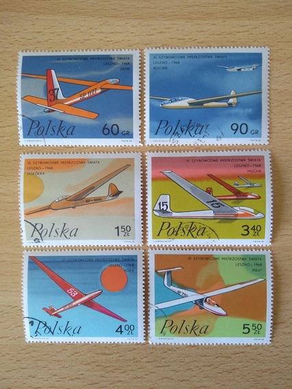 Polonia 1968. Serie De Estampillas Aviones. Mint.