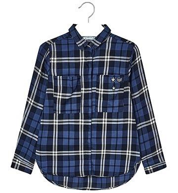 Blusa Camisa Mayoral De Niña Talla 10 A 18 Cuadros