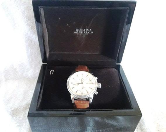 037 RLG- Relógio De Pulso Bulova Accutron- Na Caixa Original