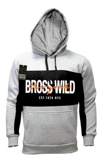Buzo Bross Black Est Bordado Fte