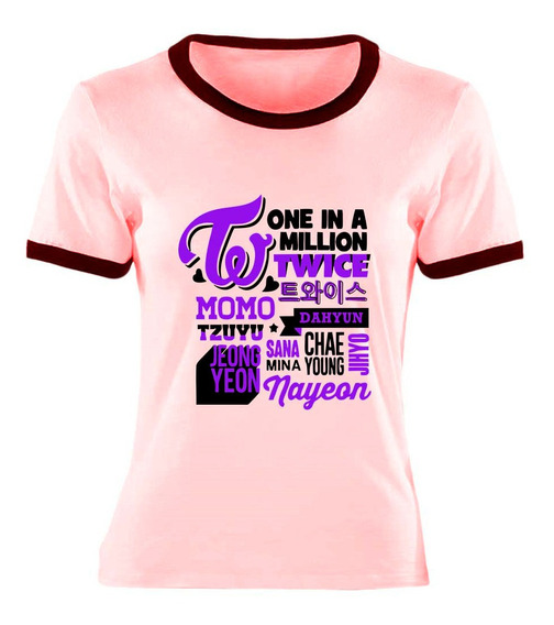 Remera One In A Million Twice Kpop Ideal Regalo