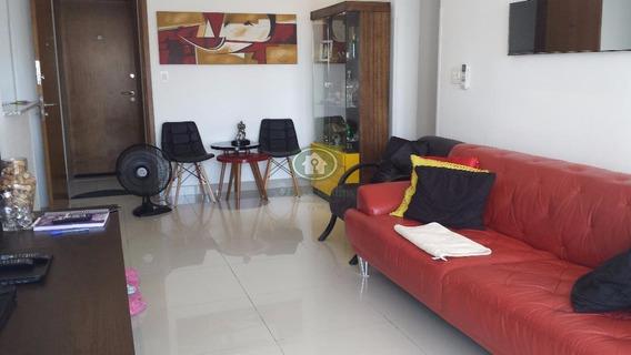 Apartamento Mobiliado Com 2 Dormitórios Para Alugar, 79 M² Por R$ 3.700/mês - Pompéia - Santos/sp - Ap4319