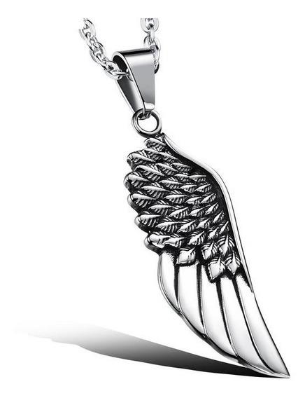 Collar Acero Inoxidable Titaniodjac906 Ala De Angel Creativo