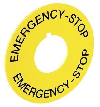 Plaqueta Para Botão De Emergência Weg Ape Kit 4pçs