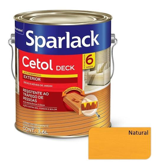 Verniz Sparlack Cetol Semibrilho Para Deck - Natural 3,6l
