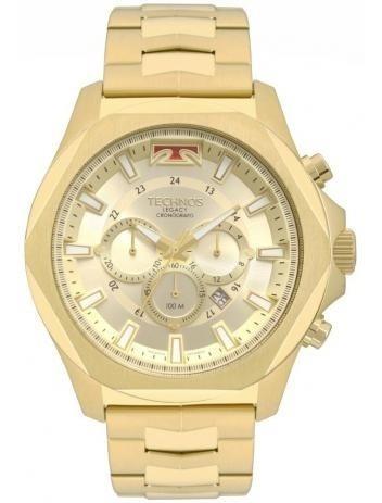 Relógio Masculino Technos Legacy Sport Js26am/4x Aço Dourado