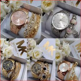Kit Com 4 Relógios Femininos - Para Revenda