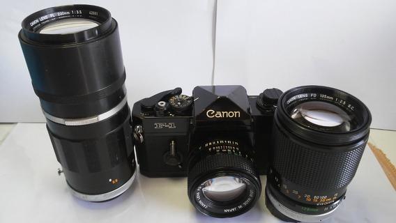 Canon F1 + Fd 50mm 1:1.4 + Fd 135mm 1:2.5 + Fl 200mm 1:3.5