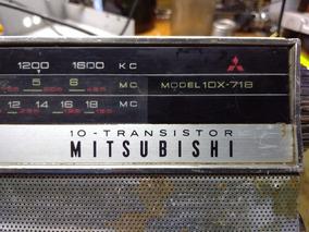 Rádio Antigo Mitsubishi Mod. 10x-718 Para Peças Ou Restauro