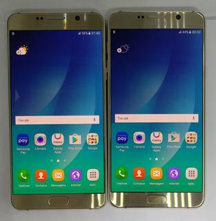 Samsung Galaxy Note 5 N920g Dourado Original Vitrine Burn-in