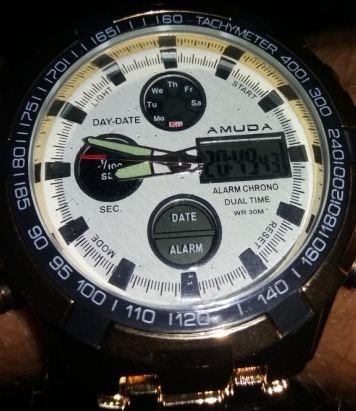 Relógio Amuda Dourado De Luxo Masculino