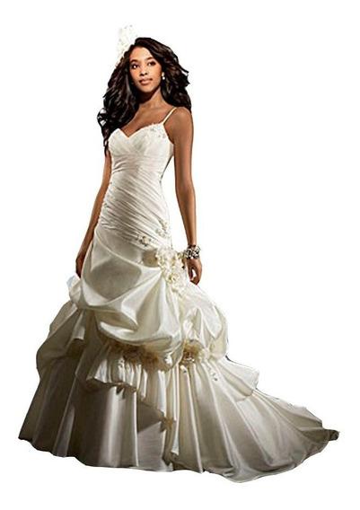 Vestido De Noiva - Branco - 36 - Fotos Reais - Vn00041