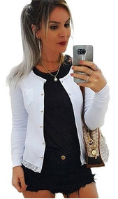 Cardigan Canelado Casaco Kimono Blusinha Detalhe Bolso Botão