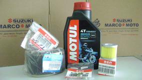 Kit Oleo Motul 3000,filtros Oleo, Ar E Oring Burgman I 125