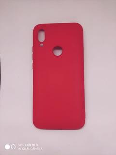 Capa Capinha Case Emborrachada E Veludo Xiaomi Redmi 7 Cores
