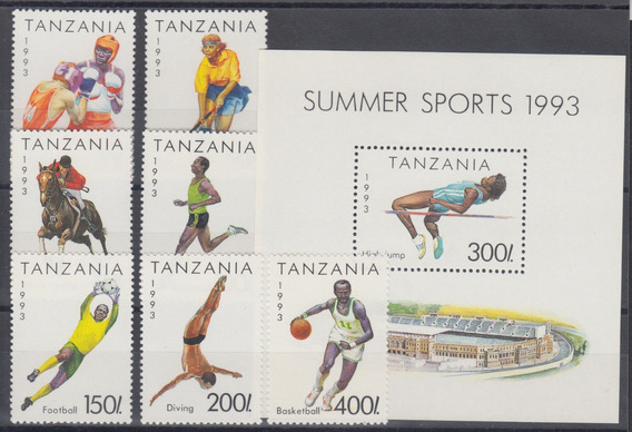 Tanzania 1993 Juegos Olimpicos De Verano Completa Mint