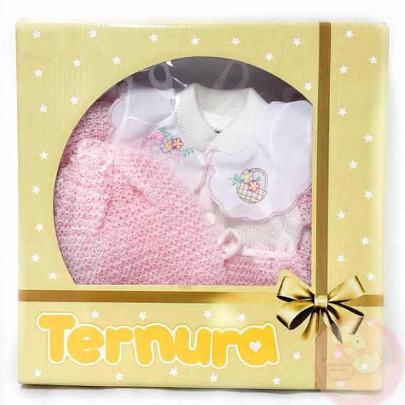 Saída De Maternidade Rosa Bebê Reborn Linda Barata Promoção!