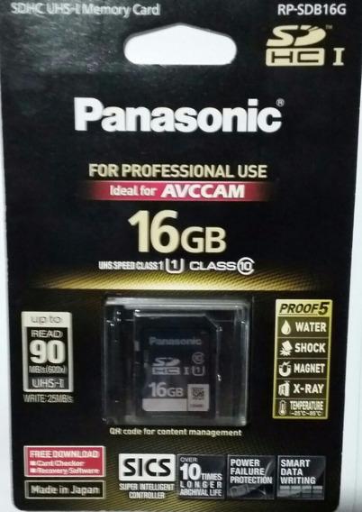 Cartão De Memoria Panasonic 16gb Class 10 90mb/s