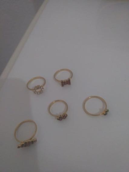 Anéis Semi-jóias Folheados A Ouro Anti-alérgicos- Cada