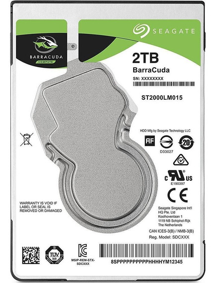 Hd Barracuda Sata 2tb, 2.s Notebook Seagate St2000lm015