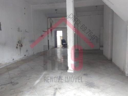 Imagem 1 de 7 de Salão Comercial Com 90 Metros - 1384