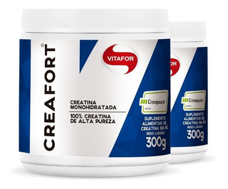 Kit 2 Creatina Creafort 100% Creapure Vitafor Pote Com 300g