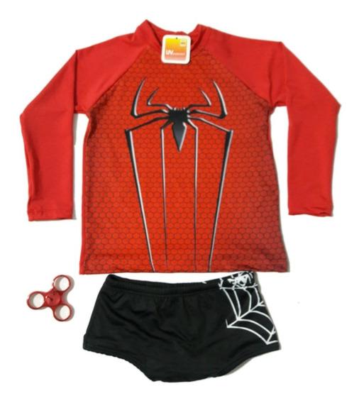 Conjunto Proteção Infantil Barato Sunga+ Camisa Uv 50 Praia