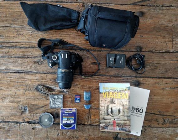 Nikon D60 + Bolsa + 2 Filtros Polar. + Microsd 16gb + Livro