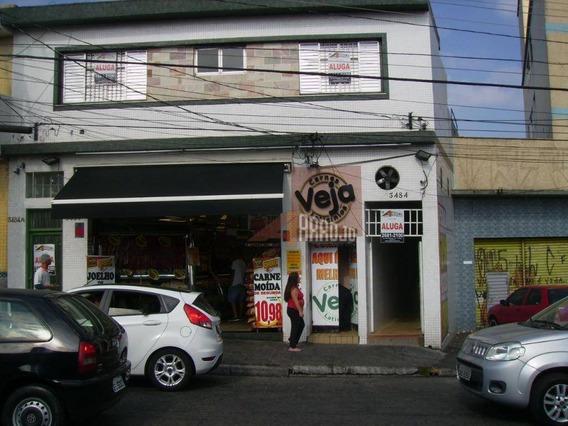 Apartamento Sobreloja Com 1 Dormitório Para Alugar Por R$ 900/mês - Pq. São Lucas - São Paulo/sp - Ca0365