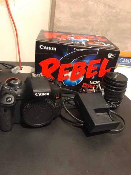 Câmera Canon Eos Rebel T6i + 18-55 Brinde