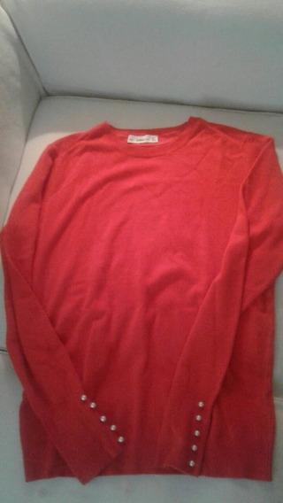 Sweater Rojo. Marca Zara. T. L.