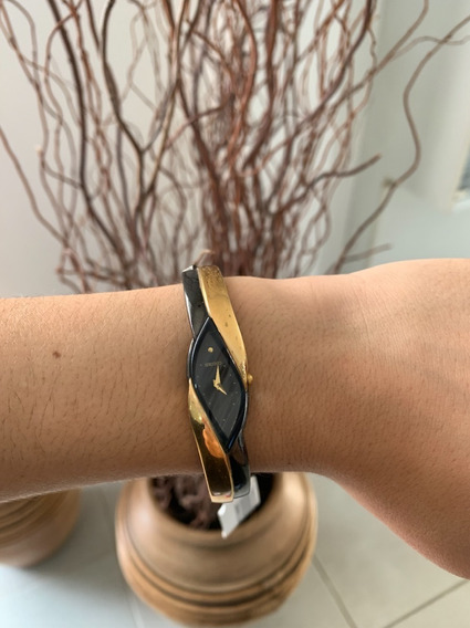 Relogio Feminino Seiko Original Dourado C Chumbo Bracelete