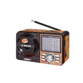 Rádio Lelong Le-616 Usb Sd Aux Sw Recarregável Am/fm Retrô
