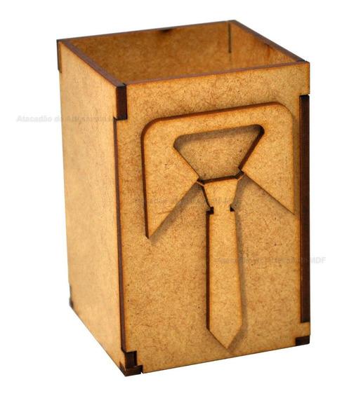 10 Caixa Modelo Gravata Caneta E Porta Treco 8x6x6 Mdf Cru