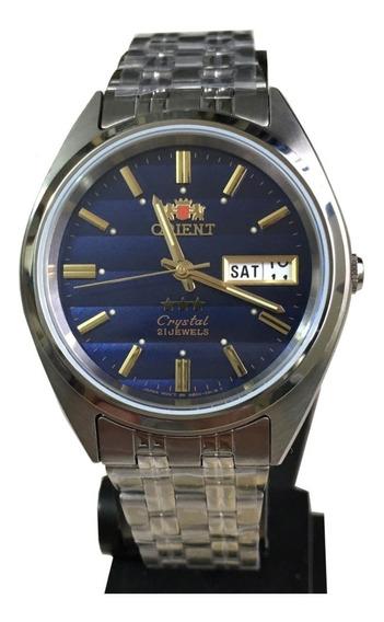 Relógio Orient Automatico Masculino Azul Original Caixa Nf