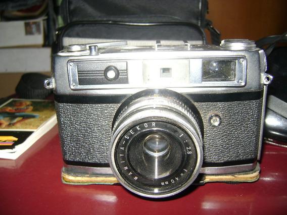 Maquina Fotografica Minolta Mamiya Dm28 Con Bolso Impecable