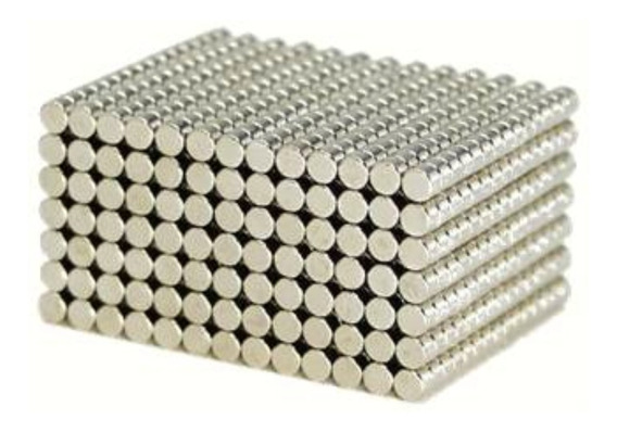 Ímã Neodímio N35 Disco 5x2mm Força Aprox. 390g 100 Unidades