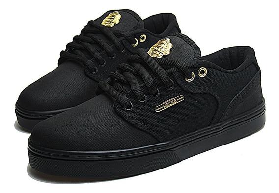 Tênis De Skate Hocks Montreal Black/gold Preto E Dourado