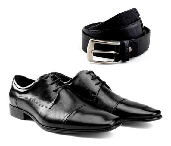 Sapatos Masculinos Still Democrata 2 Cores + Cinto Couro
