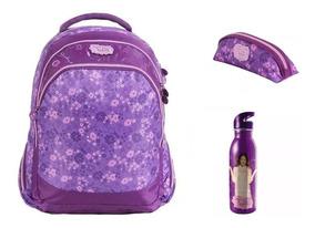 Kit Mochila Violetta +garrafa+estojo Disney 60485