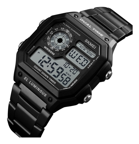 Relógio Digital Skmei 1335 Retrô Preto Prova D