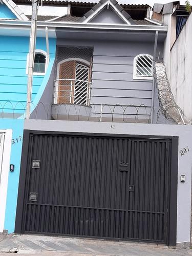 Imagem 1 de 27 de Sobrado À Venda 3 Quartos, 1 Suíte, Lavabo, 2 Vagas De Garagem, Vila Luzita, Santo André, Sp - Ca00010 - 69805367