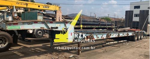 Imagem 1 de 15 de Carreta Prancha Reta 3 Eixos Rodotec Com Rampa - 2011