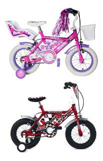 Bicicleta Rodado 12 Niño Varon Rayos Con Camara Stark 6129