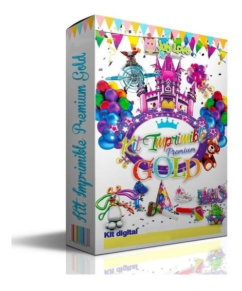 Kit Imprimible Premium Gold Nuevos Diseños Candy Calendarios