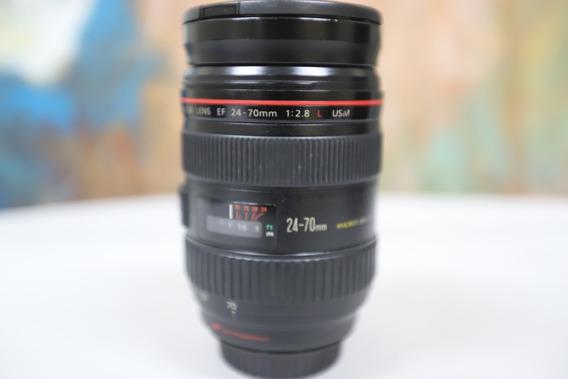 Lente Canon Ef 24-70mm F/2.8l Usm - Testada Leia O Anuncio