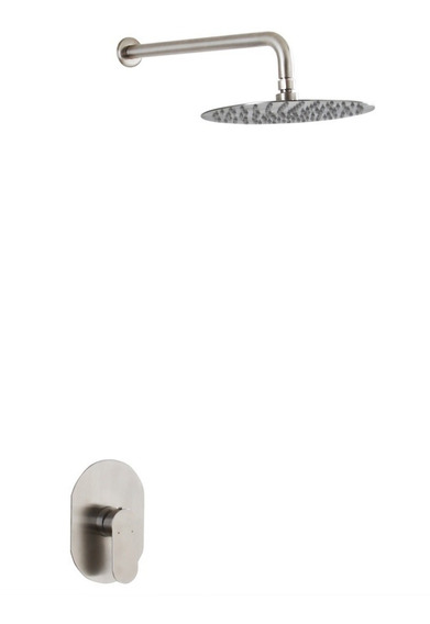 Regadera Monomando Lluvia 30cm Redonda Acero Inoxidable