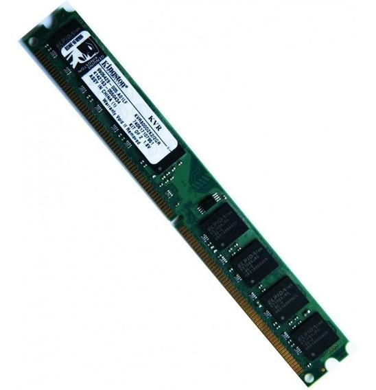 Memória 1gb Ddr2 Kingston Lacrado 800mhz Pc2-6400 Desktop Pc