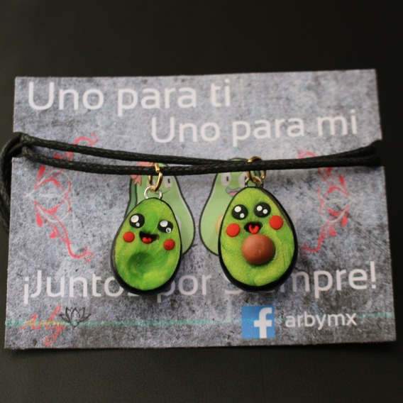 Collar Aguacates Kawaii