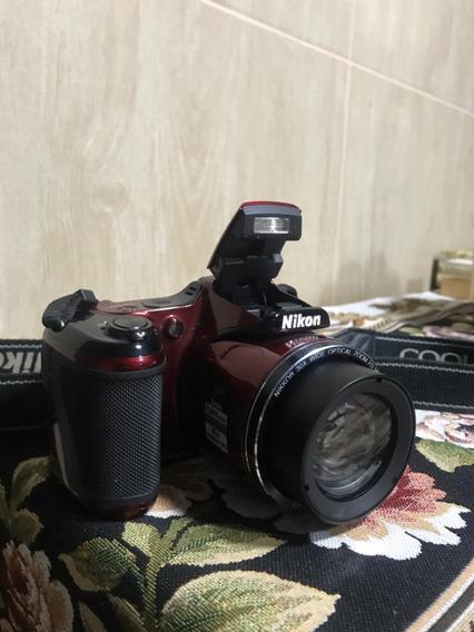 Nikon Coolpix L820 + Carregador De Pilhas +cartão De Memoria